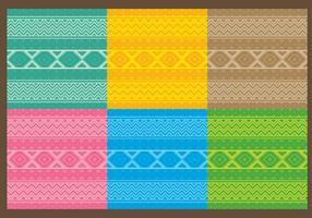 Padrões Astecas Têxteis vetor