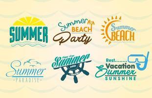 Etiquetas de praia de verão vetor