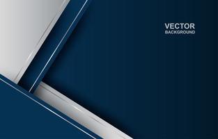 formas angulares sobrepostas em azul e prata vetor