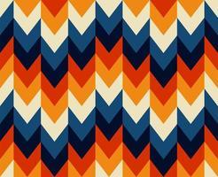 chevron sem costura estilo retrô anos 70 padrão vetor