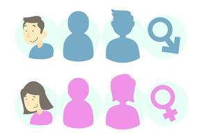 Conjunto de ícones de gênero vetor