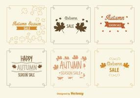 Sinais de venda de outono