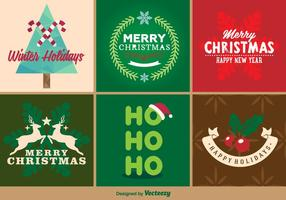 Emblemas do Feliz Natal vetor