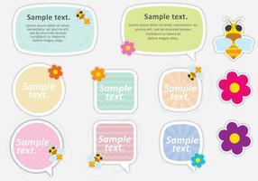 Caixas de texto bonito da abelha vetor