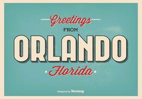 Orlando florida greeting illustration vetor