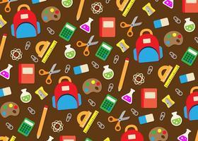 Fundo dos ícones dos utensílios da escola vetor