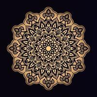 mandala dourada de formas de estrela vetor
