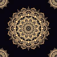 mandala estrela dourada com desenhos de canto vetor