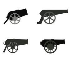 conjunto de ícones de canhão vetor