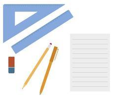 conjunto de ferramentas escolares vetor
