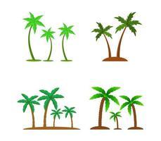 conjunto de palmeiras vetor