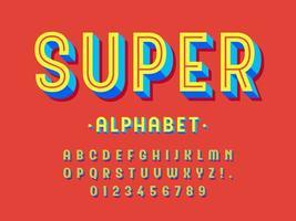 design moderno alfabeto 3d na moda vetor