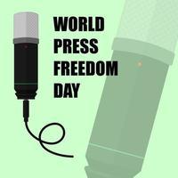 cartaz verde para o dia mundial da liberdade de imprensa vetor