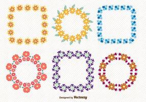 Grinaldas de primavera floral vetor
