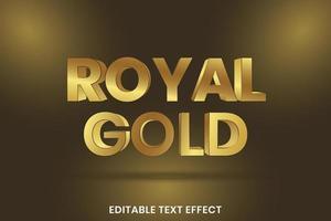 Efeito de estilo de texto de ouro 3D vetor