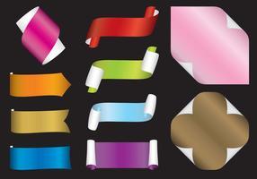 Elementos de design de papel rolado vetor
