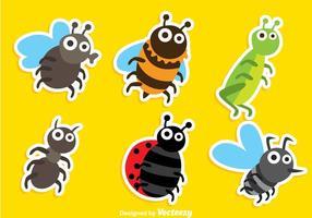 Vetores de insetos de desenhos animados