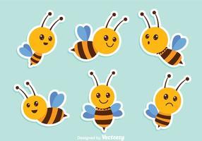 Vetores de abelha fofos