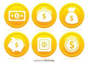 Ícones de moeda bancária vetor