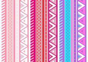 Padrão de vetor sem emenda geométrico asteca rosa rosa