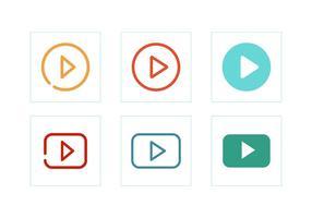 Vetores de ícone de botão de reprodução