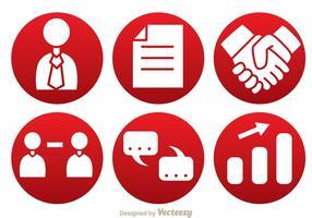 Ícones de círculo de negócios