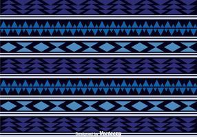 Padrão Asteca Azul Escuro vetor