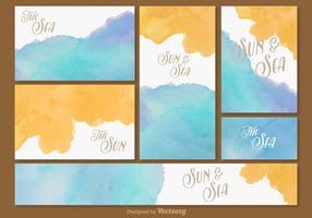 Molde do cartão de tempo da praia do verão vetor