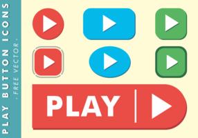 Ícones de botão de jogo Vector grátis