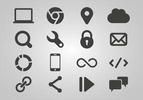 SEO grátis e vetor de ícones da Internet