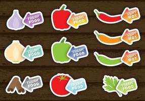 Vetores de etiquetas de alimentos