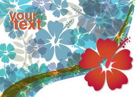 Fundo de flor de hibisco vetor