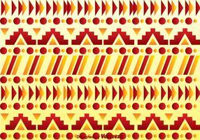 Padrão Asteca Vermelho E Laranja vetor