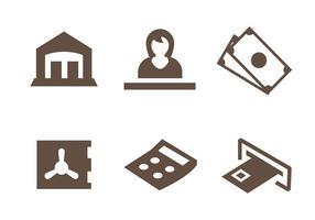 Vetor de ícones de banco grátis