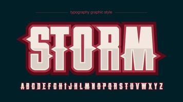 alfabeto de logotipo esportivo vermelho moderno