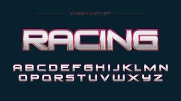 alfabeto de esportes cromo vermelho moderno