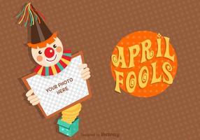 Cartão de vetores de April Fools grátis