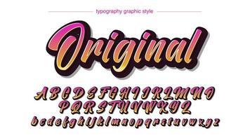 fonte de caligrafia de verão colorido moderno vetor