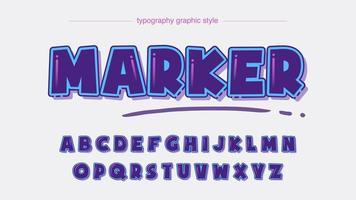 alfabeto cartoonish roxo bold (realce) extra vetor