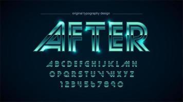 alfabeto vintage metálico de cromo verde