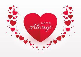 Coração lindo fundo romântico vetor