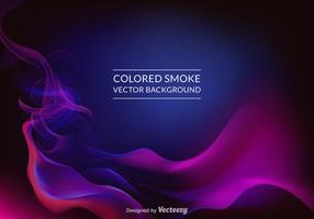 Fundo de vetor de fumo colorido colorido