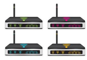 Roteadores Wi-Fi vetor