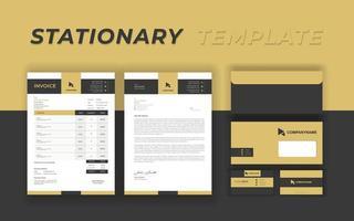 identidade de marca definida com barras de ouro e cinza vetor