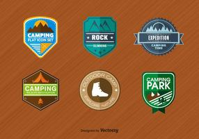 Emblemas de alpinismo vetor