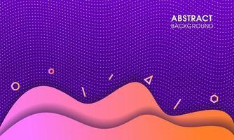 formas gradientes em camadas curvas em meio-tom roxo vetor