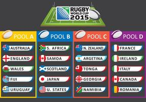 Copa do Mundo de Rugby 2015 vetor