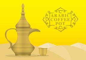 Pote de café árabe vetor