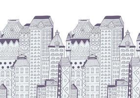 Fundo do vetor de edifícios