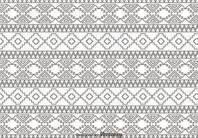 Esboço de padrão de ornamento asteca vetor